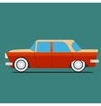 Vintage car Isolated on green vector image vector image