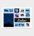 vintage chinese zodiac signs composition vector image vector image