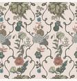 vintage wallpaper background floral seamless vector image vector image