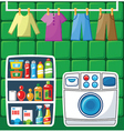 Washing room vector image vector image