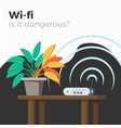 wi-fi danger vector image vector image