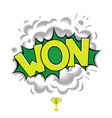 WON - classic comic speech bubble vector image vector image
