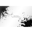 Abstract hand drawn spotted black background with vector image