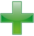 green icon vector image