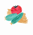 organic vegetables tomato and cucumber salad for v vector image