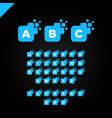business corporate square letter font logo design vector image