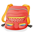 a red school bag vector image vector image