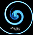 abstract colorful smoke by spiral isolated vector image vector image