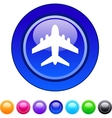 Aircraft circle button vector image vector image