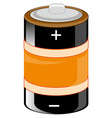 alkaline battery of the round form vector image