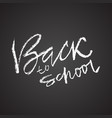 back to school chalk textured modern simple vector image vector image