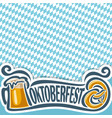 background poster for oktoberfest vector image vector image