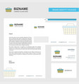 basket business letterhead envelope and visiting vector image vector image