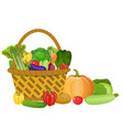 Basket with vegetables