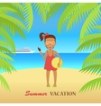 Beach with Sand and Palm vector image vector image