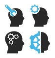 Brain Tools Flat Icons vector image