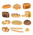 Bread product set Bakery items in flat style vector image vector image