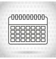 calendar icon design vector image vector image