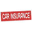 car insurance sign or stamp vector image