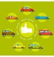 Cars best offers concept Flat style design vector image