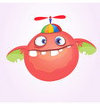 cartoon baby monster in funny childrens hat vector image vector image