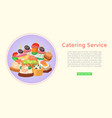 catering service restaurant food delivery for vector image