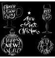 Christmas Lettering Set vector image