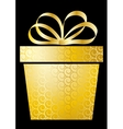 Christmas with gift box on gold vector image vector image