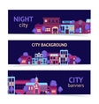 City banner horizontal vector image vector image