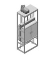 city house elevator icon isometric style vector image vector image