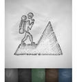 climber icon Hand drawn vector image vector image