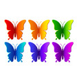 Colored paper butterflies