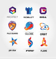 colorful logo collection set template sign symbol vector image vector image