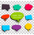 comic colored text speech bubble 9 vector image