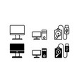computer icon isolated vector image vector image