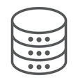 database line icon data and analytics server vector image vector image