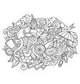 england hand drawn cartoon doodles vector image