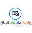euro bar code price rounded icon vector image
