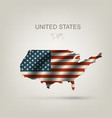 flag usa as a country vector image vector image