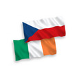 flags ireland and czech republic on a white vector image