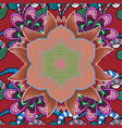 flowers on pink red and black colors tropical vector image vector image