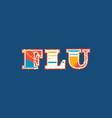 flu concept word art vector image