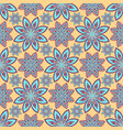 gentle abstract flowers oriental seamless pattern vector image
