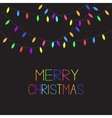 Glowing Colorful Christmas Lights Xmas Merry vector image vector image
