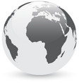 gray and white abstract globe vector image vector image