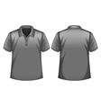 Gray shirt vector image