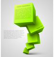 Green cubes 3D vector image vector image