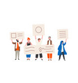 group political activists or demonstrators vector image vector image