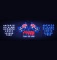 happy australia day neon sign neon banner vector image vector image