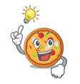 have an idea pizza mascot cartoon style vector image vector image